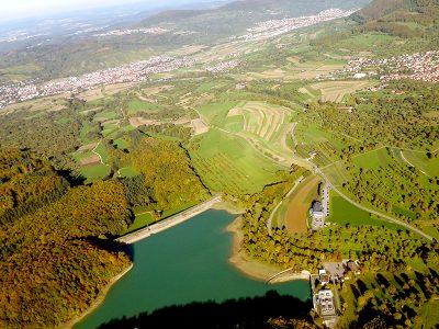 Luftbild Stausee