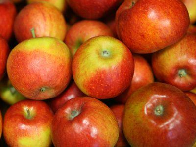 Verkaufswagen Äpfel