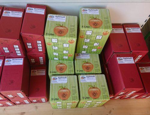 Jetzt wieder frisch gepresster Apfel- und Birnensaft verfügbar